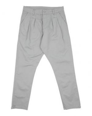 Повседневные брюки MNML COUTURE. Цвет: светло-серый