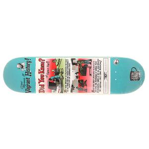 Дека для скейтборда  Stranger Vagrant History Multi 31.24 x 8.18 (20.8 см) Antihero. Цвет: голубой,мультиколор