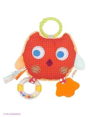 Равзивающая игрушка Сова Kaloo. Цвет: красный