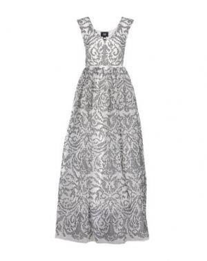 Длинное платье CLASS ROBERTO CAVALLI. Цвет: белый