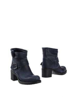 Полусапоги и высокие ботинки UNLACE. Цвет: синий
