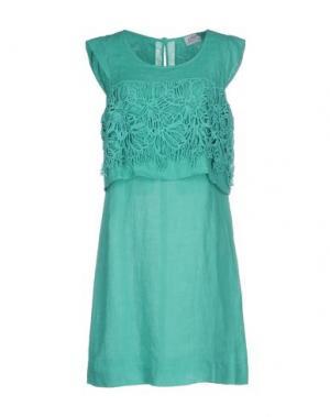 Платье до колена LA FABBRICA del LINO. Цвет: светло-зеленый
