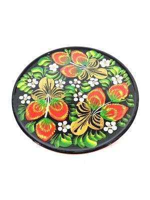 Тарелка - Ягоды на черном Taowa. Цвет: красный, черный
