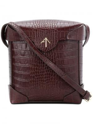 Маленькая сумка на плечо Pristine Manu Atelier. Цвет: коричневый