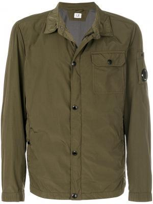 Куртка мешковатого кроя CP Company. Цвет: зелёный
