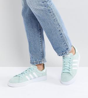 Adidas Originals Кроссовки мятного цвета Campus. Цвет: зеленый