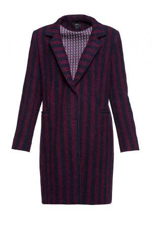 Пальто из шерсти альпака 191543 Mouche. Цвет: разноцветный