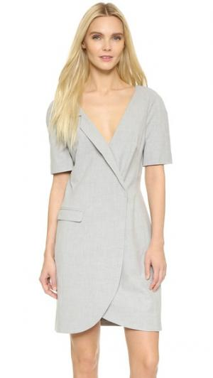 Идеально скроенное платье с V-образным вырезом ST Olcay Gulsen. Цвет: серый
