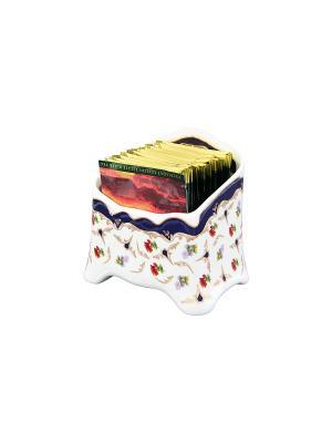 Подставка сервировочная для чайных пакетиков Цветочек Elan Gallery. Цвет: белый, синий, красный