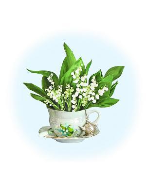 Набор для вышивания Ландыш серебристый Матренин Посад. Цвет: белый, зеленый