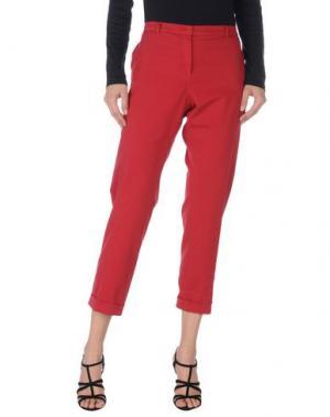 Повседневные брюки 19.70 NINETEEN SEVENTY. Цвет: красно-коричневый