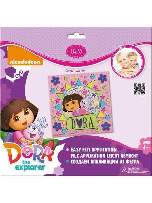 Набор для создания аппликации из фетра Лучшие друзья Делай с мамой. Цвет: фиолетовый