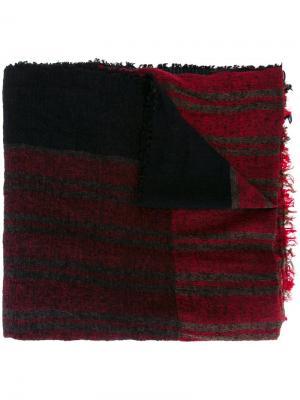 Вязаный шарф в полоску Uma Wang. Цвет: чёрный