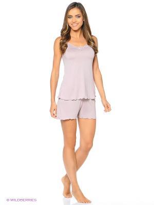 Пижама (шорты пижамные, майка) ASOLINDA. Цвет: бледно-розовый