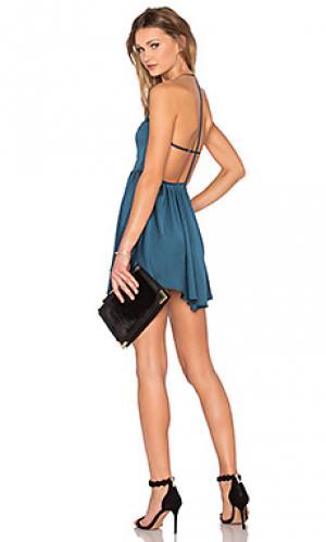 Платье get out NBD. Цвет: сине-зеленый