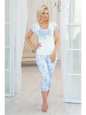 Пижама Mia Cara. Цвет: белый, голубой