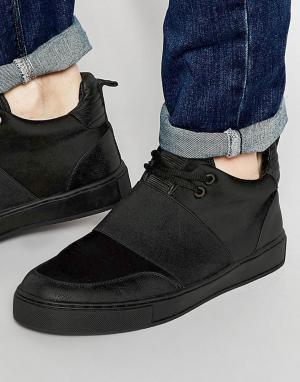 Dark Future Черные кроссовки из неопрена с эластичными ремешками. Цвет: черный