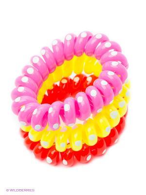Резинка-браслет для волос Mitya Veselkov. Цвет: красный, розовый, желтый