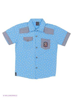 Рубашка WAXMEN. Цвет: голубой