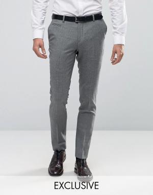 Number Eight Savile Row Строгие зауженные брюки в клетку. Цвет: зеленый