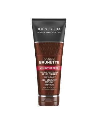 Кондиционер для создания насыщенного оттенка темных волос Brilliant Brunette Visibly Deeper, 250 мл John Frieda. Цвет: белый