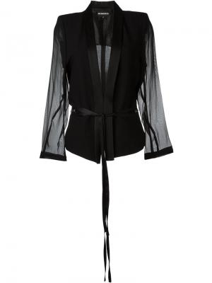 Пиджак с прозрачными рукавами Ann Demeulemeester. Цвет: чёрный