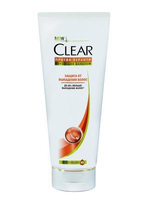 Бальзам-ополаскиватель Clear Защита от выпадения волос 180 мл. Цвет: белый