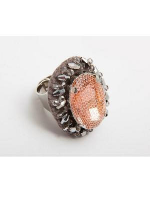 Кольцо Kameo-bis. Цвет: бежевый, серый, серебристый