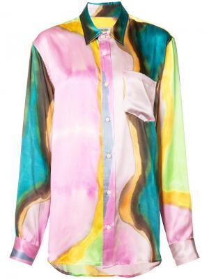 Рубашка с размытым принтом Rachel Comey. Цвет: синий