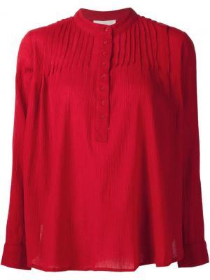 Блузка Хенли The Great. Цвет: красный