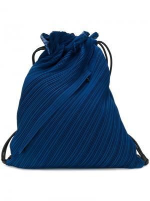 Текстурированная сумка-мешок Pleats Please By Issey Miyake. Цвет: синий