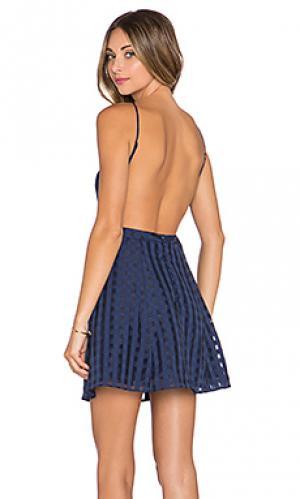Мини платье animosity NBD. Цвет: синий