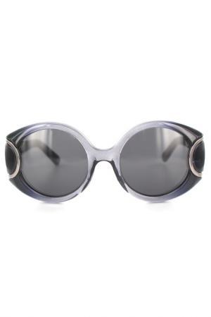 Очки солнцезащитные Salvatore Ferragamo. Цвет: серый