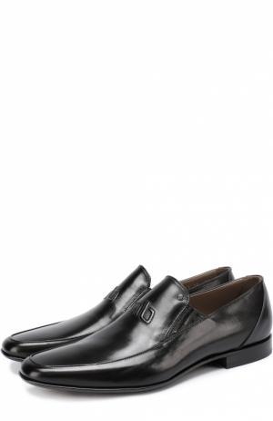Кожаные туфли с острым мысом без шнуровки Aldo Brue. Цвет: черный