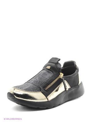 Кроссовки MASSIMO SANTINI. Цвет: золотистый, черный