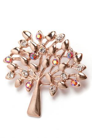 Брошь Денежное дерево Beatrici Lux. Цвет: бронзовый, оранжевый