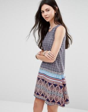 Diya Цельнокройное платье с принтом. Цвет: мульти