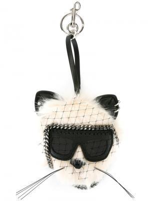 Брелок в виде кота Stella McCartney. Цвет: белый
