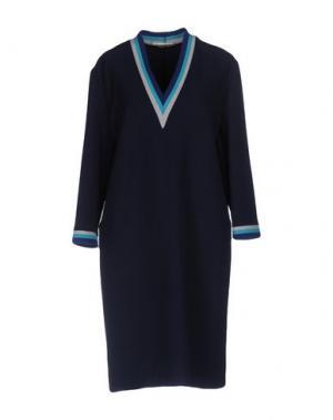 Платье до колена LA FABRIQUE. Цвет: темно-синий