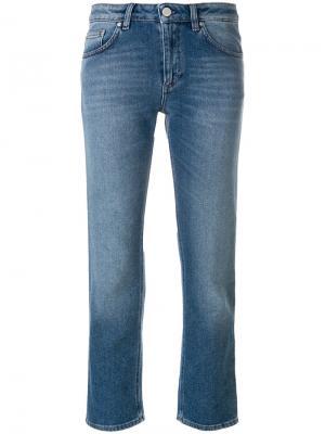 Укороченные прямые джинсы Toteme. Цвет: синий