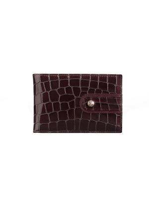 Визитница без хлястика, с карманами, АМЕТИСТ Domenico Morelli cristalli. Цвет: фиолетовый