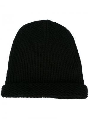 Вязаная шапка-бини Isabel Benenato. Цвет: чёрный