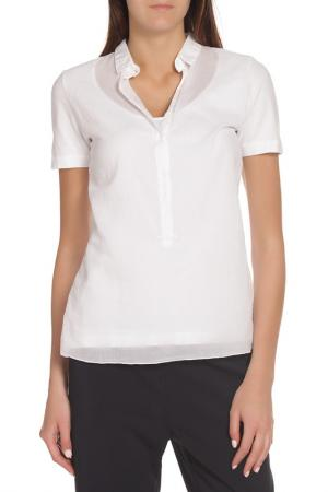 Рубашка с короткими рукавами EUROPEAN CULTURE. Цвет: белый
