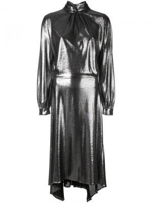 Платье Gabi Golden Goose Deluxe Brand. Цвет: металлический