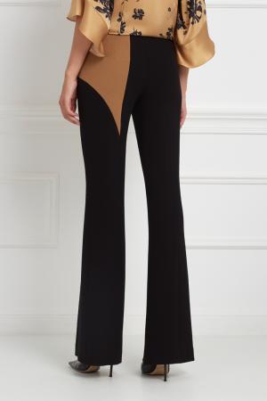 Шерстяные брюки Chapurin. Цвет: черный, бежевый