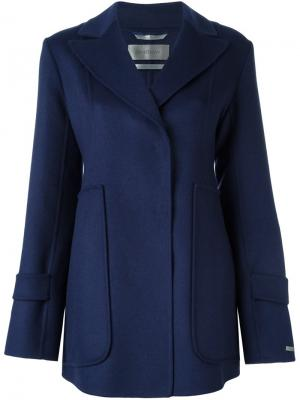 Короткое пальто Sportmax. Цвет: синий