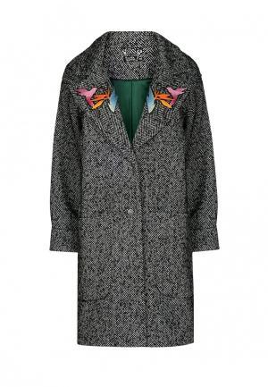 Пальто iSwag. Цвет: серый