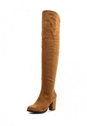 Ботфорты Style Shoes. Цвет: коричневый