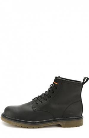 Кожаные ботинки London на шнуровке Affex. Цвет: черный