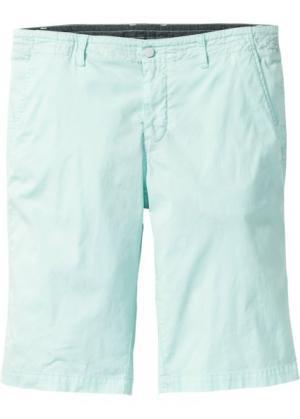 Стрейтчевые шорты-бермуды Regular Fit (светло-зеленый) bonprix. Цвет: светло-зеленый